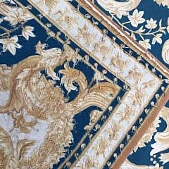 Hand Woven Wool Aubusson Carpet