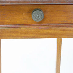 American Hepplewhite One Drawer Birch Workstand