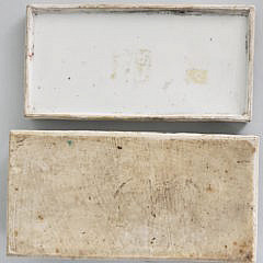19th Century Rose Medallion Covered Tooth Brush Box
