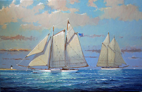 130-3520 William Lowe Approaching Nantucket Harbor A