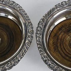 Pair of Town of Sheffield Wine Coasters, circa 1819