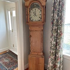 Antique English Pine Grandfather's Clock