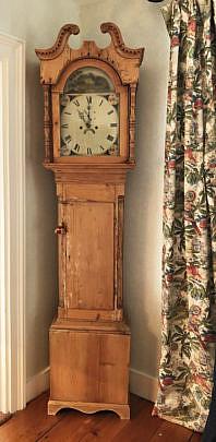 14-4940 Pine Tall Case Clock A IMG_6191