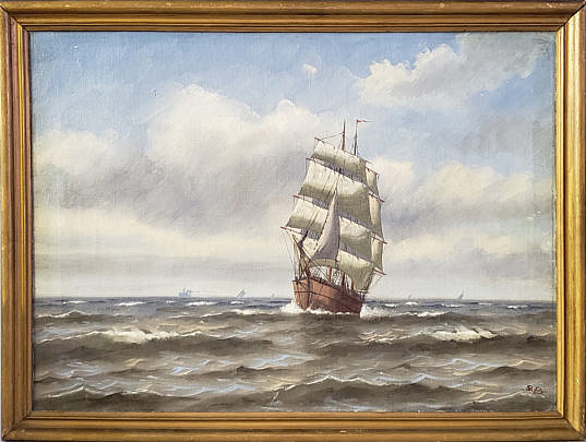 15-4275 Clipper Ship Painting A 2
