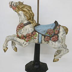 Papier-mâché Chanticleer Racing Horse, Contemporary