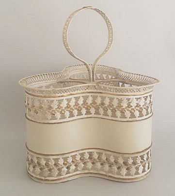 163-3972 Tole Wine Caddy A