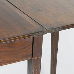 American Federal Inlaid Mahogany Card Table, circa 1800