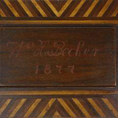 Mariner Made Inlaid Box, circa 1877