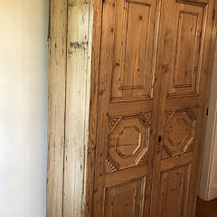 Antique English Pine Two-Door Pantry Cupboard, 19th Century