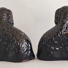 Pair of 19th Century Staffordshire King Charles Spaniels