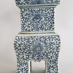 19th Century Chinese Blue and White Decorated Incense Burner