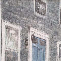 """Marcus Goulding Nantucket Oil Painting, """"Orange Street Doorway"""""""