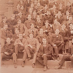"""19th Century Black and White Photograph, """"Class of """"99"""" Stevens Institute of Technology"""""""