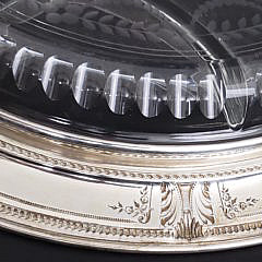 Sterling Silver and Cut Crystal Condiment Platter