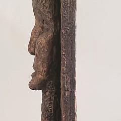 R. Gutman Plaster Modernist Facial Sculpture