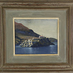 "Louis J.Kaep Tempera on Artist Board ""St. Stefen, Yugoslavia"""