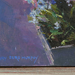 """Mary Sarg Murphy Oil on Canvas """"Forget Me Nots"""""""