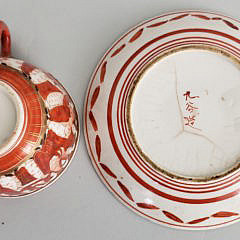 Seven Pieces of 19th Century Kutani Porcelain