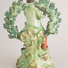 19th Century Staffordshire Flute Player Figurine