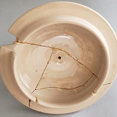 Antique German Wekara Punch Pot with 8 Mugs