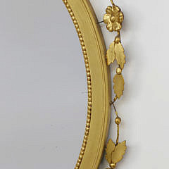Sheraton Style Carved and Gilt Mirror, 20th Century
