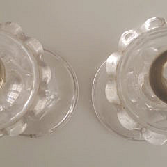 Pair of 19th Century Flint Glass Whale Oil Lamps