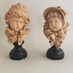 35145 Pair Plaster Busts A