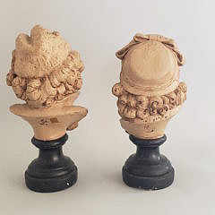 Pair of Émile Guillemin 19th Century French Plaster Busts of Children