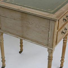 English Sheraton Pine Writing Desk, 19th Century
