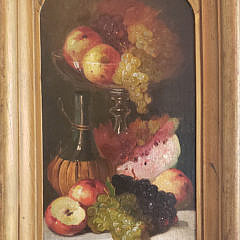 Edward Levitt Oil Fruit and Wine Still Life