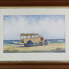 """John Hutchinson Watercolor on Paper, """"Overheated at Great Point"""""""