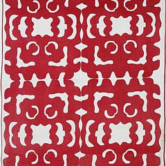 4-4922 Red White Hawaiian Quilt A_MG_8800