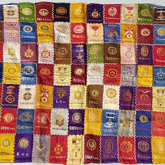 40575-Collegiate Silk Patchwork A