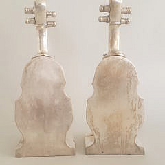 Pair of Vintage Silver Plate Cello Bookends