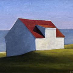 "Joan Albaugh Oil on Canvas ""Blue Horizon"""