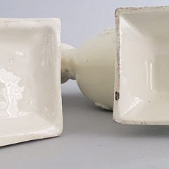 Two 19th Century Creamware Bud Vases
