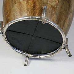 Contemporary Umbrella Barrel on Chrome Bamboo Frame Base