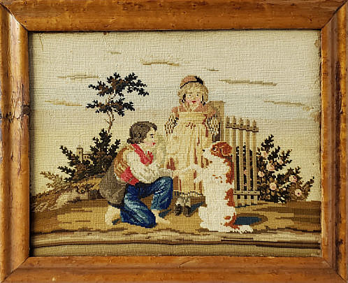 5-4041 Needlepoint Side Table A 2