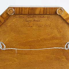 Sandy Moran Tiger Maple Sailor's Valentine with Hat and Ribbon Central Medallion