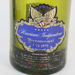 """Moet """"American Independence Bicentennial"""" Champagne Bottle"""