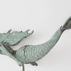 Copper Mermaid Weathervane, circa 1990