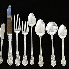 "Lunt Sterling Silver Flatware Service in the ""American Victorian"" Pattern"