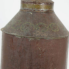 Tole Decorated Canister Lamp