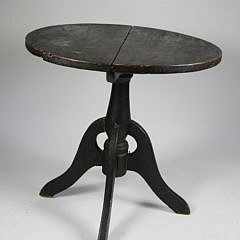 Continental Black Painted Artist Work Table, circa 1860-1870